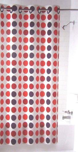 1 - Hookless PEVA Shower Curtain Flex-On Rings - Pink, Purpl