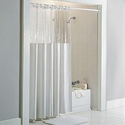 "Sweet Home Collection 10 Gauge Vinyl Shower Curtain 72"" x 72"