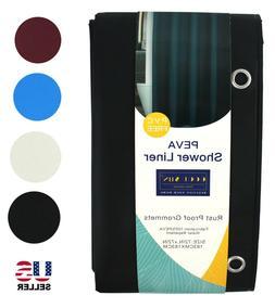 100% PEVA Shower Curtain Liner Solid Waterproof Mildew Resis