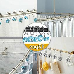 12 Double Glide Bathroom Rod Stainless Steel Shower Curtain