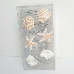 12Pcs Seashell Bath Shower Curtain Hooks Bathroom Beach Shel
