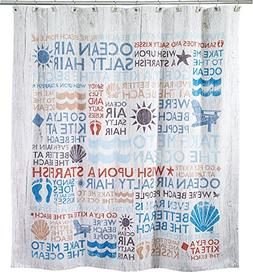 "Avanti Linens Beach Words72"" x 72"" Shower Curtain Multi-Colo"