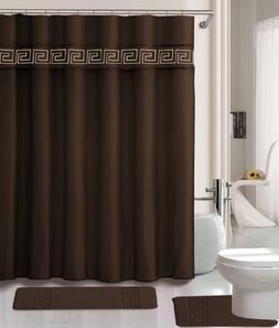 15 Piece Memory Foam Bath Rug Set Bathroom Rugs with Fabric