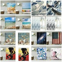 150*180cm  Bathroom Waterproof Fabric Shower Curtain Set Bat