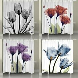 150x180cm Flannel Fabric Shower Curtain Set Waterproof Home
