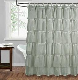 1PC SOLID BATHROOM BATH SHER FABRIC SHOWER CURTAIN MULTILAYE