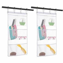 2 Pack Hanging Mesh Shower Caddy Organizer with 6 Pockets, S