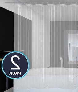 2 Pack Peva Shower Curtain Liners - Waterproof, Mold & Milde