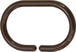 EVIDECO 2200160 Shower Curtain Rings Plastic Hooks Solid And