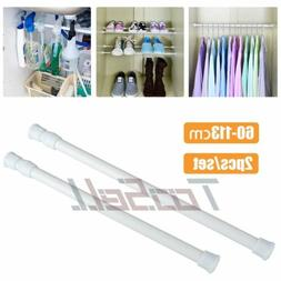 2x Extendable Shower Curtain Rod/Pole Telescopic Spring Tens