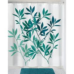 InterDesign 35607 Leaves Fabric Shower Curtain - Standard, 7