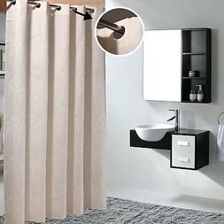 "36x78"" Waterproof Bathroom Shower Curtain Hookless Fabric Cu"