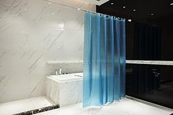 LJM 3D Effect EVA Blue Shower Curtain Bath Curtain Liner Wat