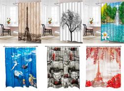 3D Graphic Shower Curtain 100% Vinyl Waterproof Mildew Resis