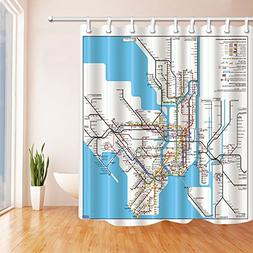 NYMB 3D Digital Printing Map Decor New York City Subway Show
