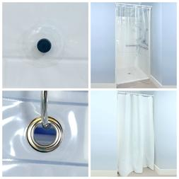 """54"""" x 78"""" PEVA Shower Stall Curtain Liner with Microban - 3"""