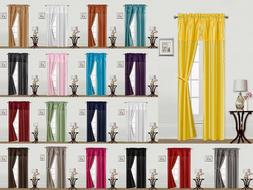5PC SOLID/PRINTED WINDOW CURTAIN PANEL SET MODERN YET ATTACH