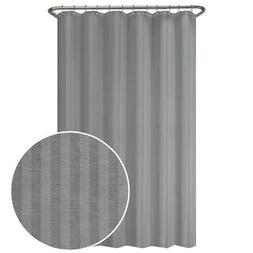 70 Wx72 in L Ultimate Striped Waterproof Fabric Shower Curta