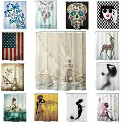 "71"" Fabric Waterproof Bathroom Bath Shower Curtain Printed D"