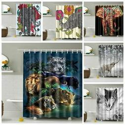 "71"" Waterproof Bathroom Bath Fabric Shower Curtain Printed D"