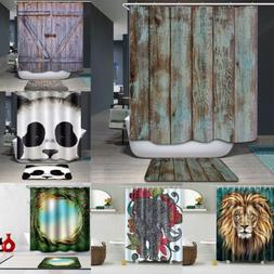"71"" Waterproof Fabric Bath Bathroom Shower Curtain 3D Printi"