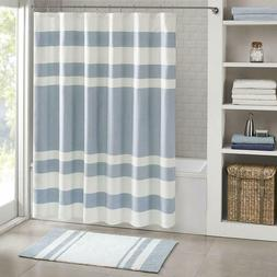 Madison Park 72-Inch x 96-Inch Spa Waffle Shower Curtain in