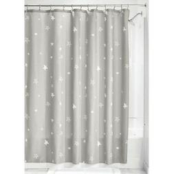 "InterDesign #74560 72"" x 72"" - Gray Star Shower Curtain"