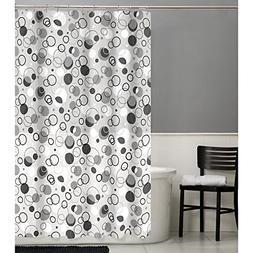 MAYTEX 79090 Ring Toss Peva Shower Curtain, Grey