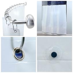 """82"""" x 74"""" Extra Wide PEVA Shower Curtain Liner with Microban"""