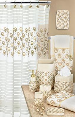 Popular Bath 843910 Seraphina Shower Curtain,Ivory