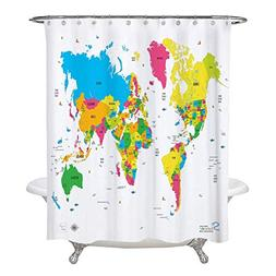 Amazing Shower Curtains - 2018 World Map Shower Curtain 70x7