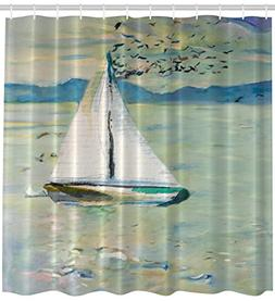 Ambesonne Art Shower Curtain Impressionist Art Prints Oil Pa