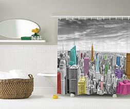Ambesonne Cityscape Decor Shower Curtain by, NYC New York Ci