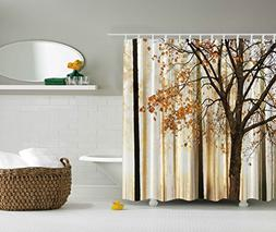 Ambesonne Extra Long Shower Curtain Fall Trees by, Polyester