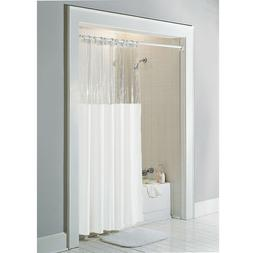 "Anti-Bacterial Vinyl ""Window"" Shower Curtain: Rust Proof Gro"