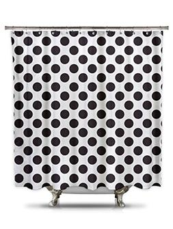 Black And White Polka Dot Shower Curtain 70in X 78in 100 P