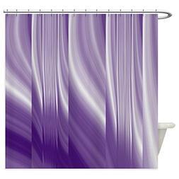 CafePress - Abstract Purple Grey - Decorative Fabric Shower