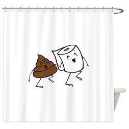 CafePress - BFFs Shower Curtain - Decorative Fabric Shower C