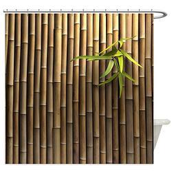 CafePress - Bamboo Wall - Decorative Fabric Shower Curtain