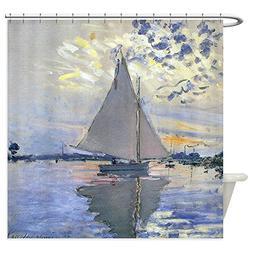 CafePress - Claude Monet Sailboat Shower Curtain - Decorativ