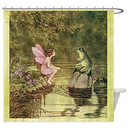 CafePress - Frog Begging Fairy Child - Decorative Fabric Sho