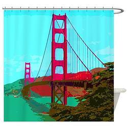 CafePress - Golden_Gate_Bridge_2015_0422 Shower Curtain - De