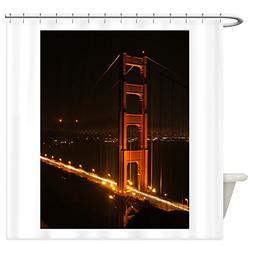 CafePress - Golden Gate Bridge North Tower Shower Curtain -