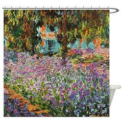 CafePress - Irises In Monet's Garden Shower Curtain - Decora