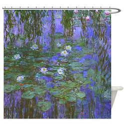 CafePress - Monet - Blue Water Lilies - Decorative Fabric Sh