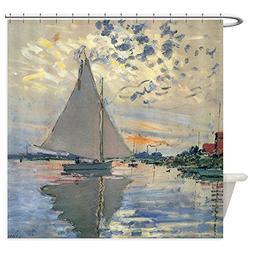 CafePress - Monet Sailboat French Impressionist - Decorative