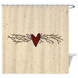CafePress - Pip Berry Heart Swag - Decorative Fabric Shower