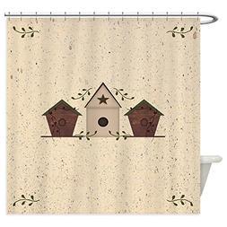 CafePress - Primitive Birdhouses Shower Curtain - Decorative