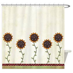 CafePress - Primitive Sunflowers Shower Curtain - Decorative