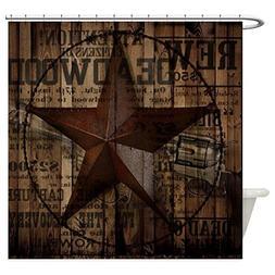 CafePress - Primitive Texas Lone Star Cowboy - Decorative Fa